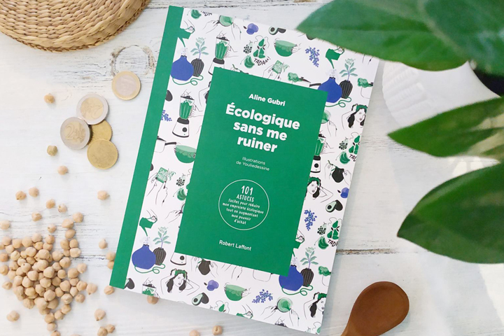 <em>Écologique sans me ruiner</em>,<br /> una guida pratica per ridurre l'impatto ambientale,<br /> stampata su carta Respecta 100 Satin