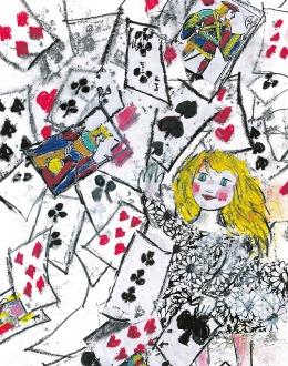 2000 / Emanuele Luzzati, Alice e le carte