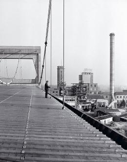 Stabilimento di Mantova, la struttura a ponte sospeso che sostiene la volta dell'edificio