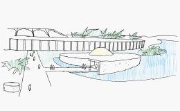 Sede amministrativa di San Mauro Torinese, disegno originale di Oscar Niemeyer